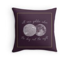 When the Day Met the Night Throw Pillow