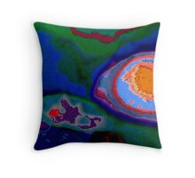 Jules Verne's map of adventurous happiness Throw Pillow