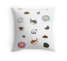 Caturday is Everyday Throw Pillow