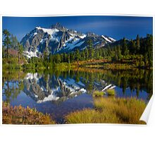 Picture Lake Fall Color Poster