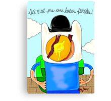 Son of Finn / Magritte Meets Adventure Time  Canvas Print