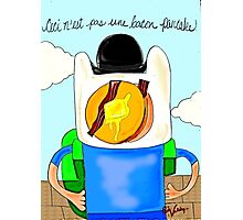 Son of Finn / Magritte Meets Adventure Time  Photographic Print