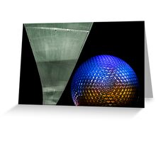 Night at Epcot - Spaceship Earth Greeting Card