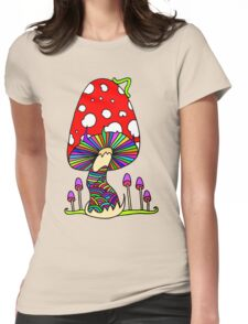 Mother Mushroom Womens Fitted T-Shirt