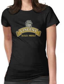 Vincent Black Prince Womens Fitted T-Shirt