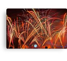 Burst of Color - Fireworks at Epcot Canvas Print