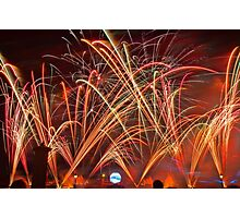 Burst of Color - Fireworks at Epcot Photographic Print