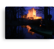 Ross Castle night view Canvas Print