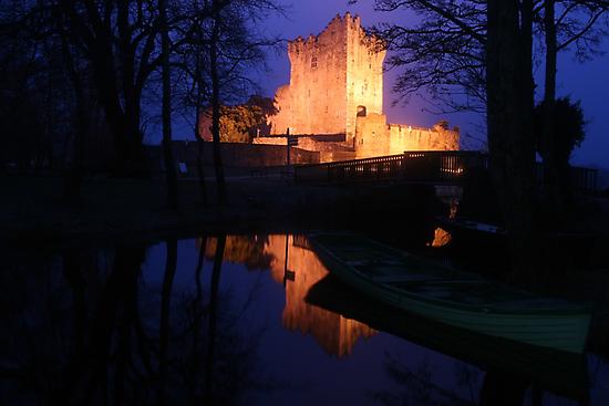Ross Castle night view by John Quinn