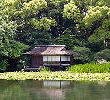 Kyoto garden lake house by Bill  Russo