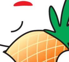 Reddit Alien with a Pineapple Sticker