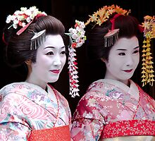 Geisha for the day by Bill  Russo