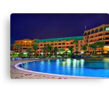 Egypt night hotels Canvas Print