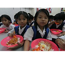 """""""brain food"""" - Series on the Chin refugee Children of Burma living in Malaysia Photographic Print"""
