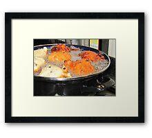 "Baking ""oliebollen"" Framed Print"