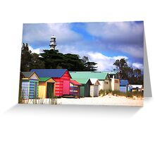 McCrae Boathouses and Lightstation Greeting Card
