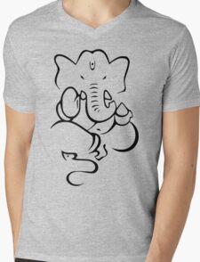 Ganesha Mens V-Neck T-Shirt