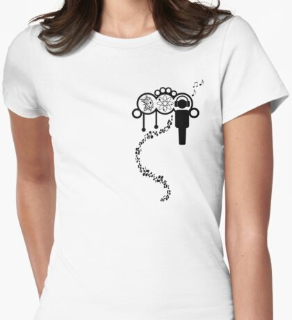 Time ~ Motion ~ Music Womens Fitted T-Shirt