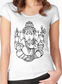 Ganesha 2 Women's Fitted Scoop T-Shirt