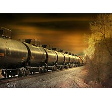 """ Mirrored Tanker "" Photographic Print"