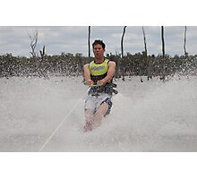 Novice Waterskier! Photographic Print