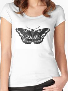 Harry Styles Butterfly Tattoo Women's Fitted Scoop T-Shirt