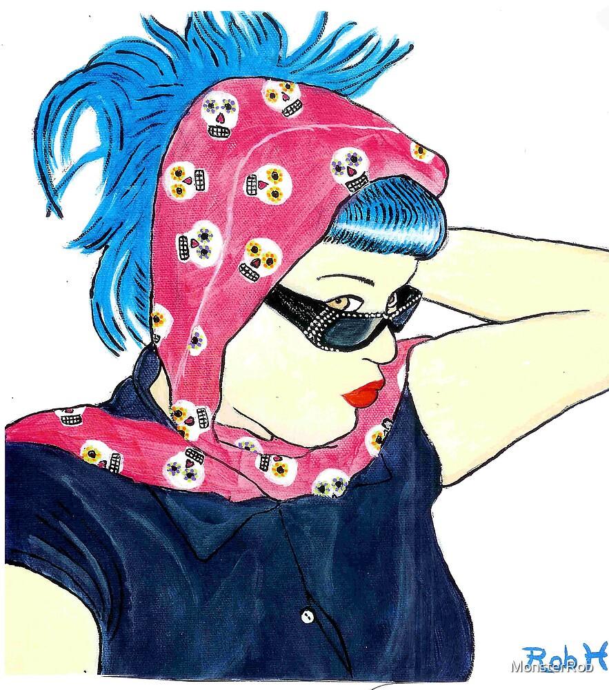 Blue hair Annie by MonsterRob