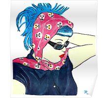 Blue hair Annie Poster