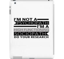 Do your research iPad Case/Skin
