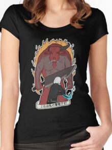 'THIS IS MY ADVENTURE!' Bell Cranel vs the Minotaur Women's Fitted Scoop T-Shirt