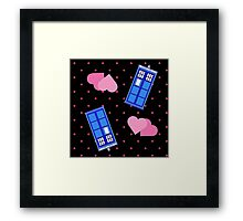 Police Box Polka Dot Framed Print