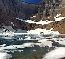 Iceberg Lake in Glacier National Park, Montana by Robert deJonge