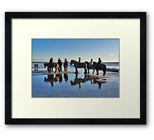Spectators at the New Year's dive Framed Print