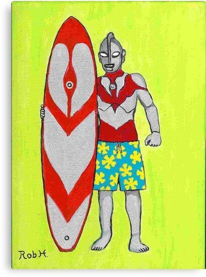 ULTRAMAN goes surfing by MonsterRob