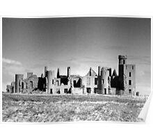 Slains Castle, Scotland Poster