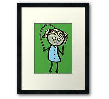 Zombie Skip Framed Print