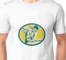 Carpenter Hammer Chisel Chiseling Retro Unisex T-Shirt