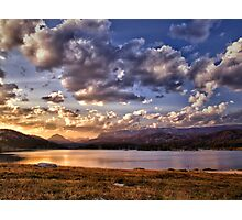 Evening Over Island Lake Photographic Print