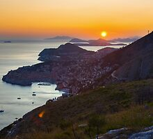 Sunset in Dubrovnik by Ivan Coric
