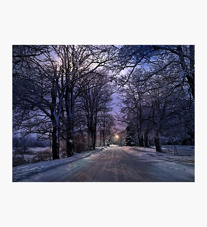 A Walk on a Winter Evening - Erie, PA Photographic Print