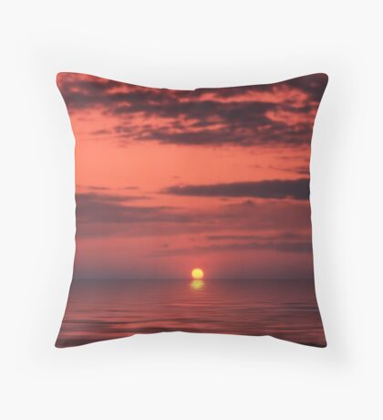 Maltese Sunset Throw Pillow