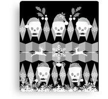 Ugly Goth Christmas Sweater Canvas Print