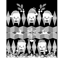 Ugly Goth Christmas Sweater Photographic Print