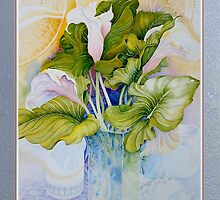 Still-life with Arum Lillies by Carol McLean-Carr