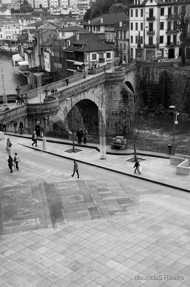 Plaza s. gonçalo cathedral and bridge by FotosdaMau