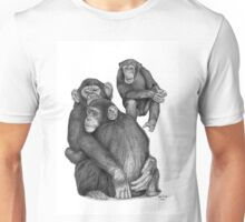 Chimpanzee drawing Unisex T-Shirt