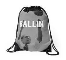 Obama Ballin Drawstring Bag