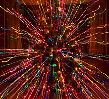 Wild Colorful Christmas Tree Abstract Photo by Bo Insogna