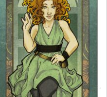 River Song ArtNerdveau Sticker