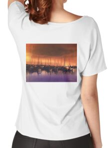 San Diego Harbor Midnight Moon Women's Relaxed Fit T-Shirt